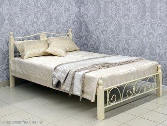 Кровать Королевство сна PS 8823 топленое молоко