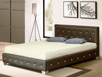 Кровать Королевство сна MOREE Matt PU Brown